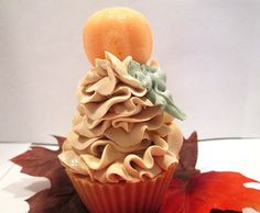 Frosted Pumpkin Handmade Cold Process Cupcake Soap via Etsy Fall cupcake soaps!