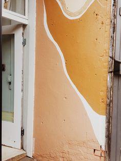 orange and pink art mural Mural Art, Wall Murals, Home Decoracion, Interior And Exterior, Interior Design, Room Decor, Wall Decor, Decoration Design, 2020 Design