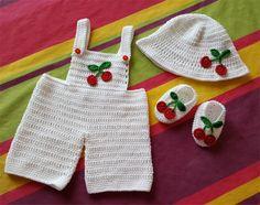 15- FICHE PATRON CROCHET Ensemble Cerise pour bébé : Tutoriels de fabrication par atelier-crochet