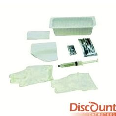 Amsino International - AS890 - Foley Insertion Tray, Prefilled 30cc Syringe of Sterile Water, 20/cs