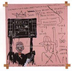Jean-Michel Basquiat, Native Carrying Some Guns, Bibles, Amorites on Safari 1982