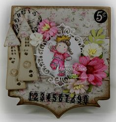 Magnolia Hand made card made with Magnolia stamps #magnolia-licious #rubber stamps #paper crafts