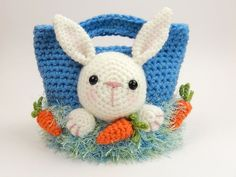 Crochet Toys Design Easter Treat Bags, Bunny, Chick and Lamb - Amigurumi Crochet Pattern - Crochet Amigurumi, Amigurumi Doll, Diy Crochet, Crochet Dolls, Crochet Baby, Crochet Purses, Crochet Round, Crochet Squares, Crochet Ideas