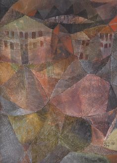 Paul Klee 1879 - 1940 DAS HOTEL (THE HOTEL) signed Klee and dated 1913.177 (lower right); signed Klee and dated 1913 177 on the reverse oil, watercolour and pen and ink on board 30.5 by 22.5cm., 12 by 8 7/8 in. Executed in 1913. Estimate 164,040 - 246,060USD LOT SOLD. 356,377 USD