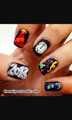 New year nail art #supercute