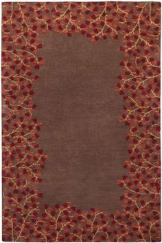 """Athena Collection 7'6"""" x 9'6"""" Rug (ATH-5003) by Surya. $659.40. Hand Tufted - Wool. 100 Wool. Rug patterns vary between sizes. Rug received may not match pattern pictured exactly.. Plush Pile. Simple and elegant designs hand tufted in 100 wool, the rugs of the Athena Collection complement transitional to contemporary interiors. With a color palette of rich warm earth tones in brown, red, blue and gold, these hand crafted pieces blend seamlessly with any environ..."""