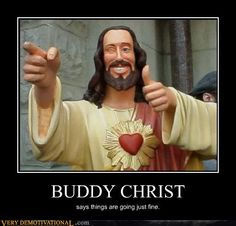"Buddy Christ from Kevin Smith's ""Dogma"""