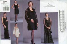 58e25e47f3665 Vogue 2377 Maternity Dress Pattern Lauren Sara Bust 24 to 38 Womens Sewing  Pattern Misses Formal Evening Lace Coat Sleeveless Dress UNCUT