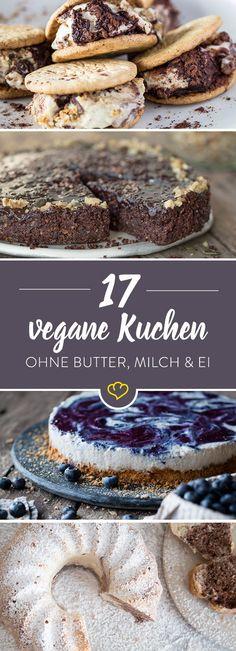 Ohne Butter, Milch und Ei. Dafür mit allerhand Nüssen und viel Obst. Diese 17 Kuchen schmecken nicht nur veganen Naschkatzen.