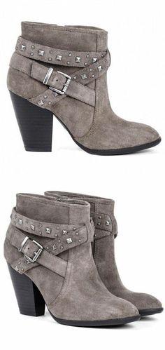 Studded Grey Booties ♥