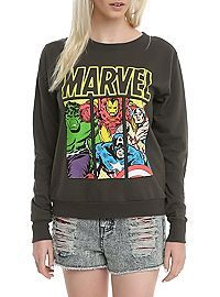 HOTTOPIC.COM - Marvel Avengers Panels Girls Pullover Top