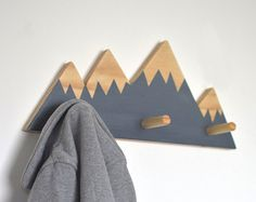 Wand-hooks für Kinder Berg Wand Haken Mountain von hachiandtegs
