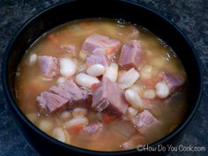 How Do You Cook.com: Ham and Bean Soup - maybe add some greens too!