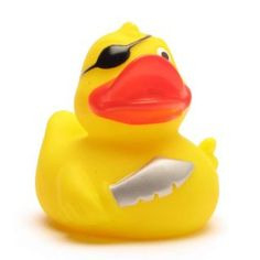 Badeente Pirat Säbel Augenklappe Rubber Duck Pirate