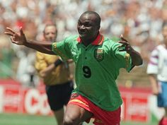 Roger Milla the Cameroon legend and oldest World Cup goal scorer (was 42 at USA 94) officially invented dancing around corner flags on way to scoring four goals in Italia 90 - a true inspiration.