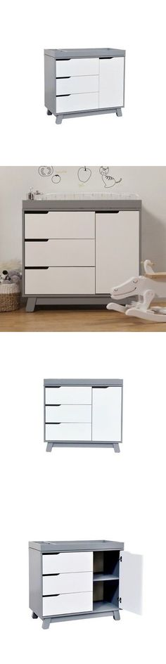 Baby Dressers 134279: Babyletto Hudson Changer Dresser Wood Baby Dressers In Grey And White -> BUY IT NOW ONLY: $379 on eBay!