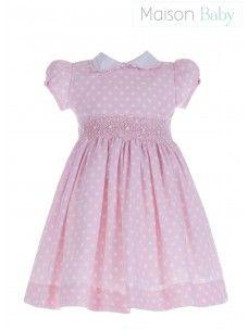 Vestido Casinha de Abelha Poas Rosa - Maison Baby