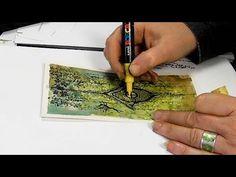 Magic Tutorial, Lavinia Stamps Cards, Gel Press, Video Page, Brusho, Gelli Printing, Creative Art, Card Ideas, The Creator