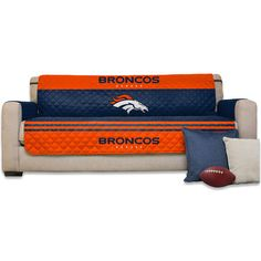 "Denver Broncos 75"" x 110"" Sofa Water-Absorbent Furniture Protector"