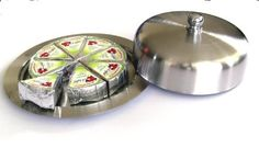 CHEESE DISH Butter Keeper Saver (SILVER) Cheese Keeper Quesera Dish with Dome Cover Stainless Steel by Polymerose. $6.95. Keeps cheese fresh longer.  Holds most of the standard sized cheeses.. Stainless steel plate and dome.. Measurements of the cheese dish in inches: Diameter: 6.3 H: 2 (including top knob) Capacity: Carries almost all types of wheel cheese, wedge cheese and queso fresco.  We invite you to see all the POLYMEROSE silicone molds: Just type POLYM...