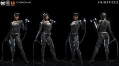 Injustice 2 - Catwoman by Solomon Gaitan on ArtStation. Injustice Characters, Dc Characters, Comic Manga, Anime Manga, Dc Injustice, Dc Tv Series, Dc World, Catwoman Cosplay, Superman Movies