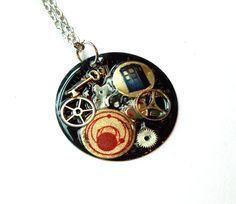 """Doctor Who Necklace """"The Darkness of the Untempered Schism"""""""