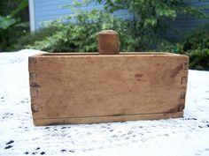 Wood Rectangle Butter Mold Butter Molds, Churning Butter, Flea Market Finds, Handmade Wooden, Crock, Stamps, Antiques, Seals, Antiquities