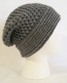 Hand crochet slouch beanie soft and thick made to by jeniebug76, $18.00