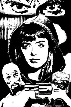 Guns, Booze and Jessica Jones INKS by BillForster.deviantart.com on @DeviantArt