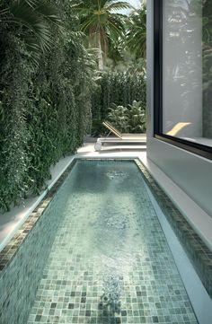 Backyard Pool Designs, Small Backyard Pools, Small Pools, Swimming Pools Backyard, Swimming Pool Designs, Pool Landscaping, Swimming Pool Mosaics, Lap Pools, Indoor Pools
