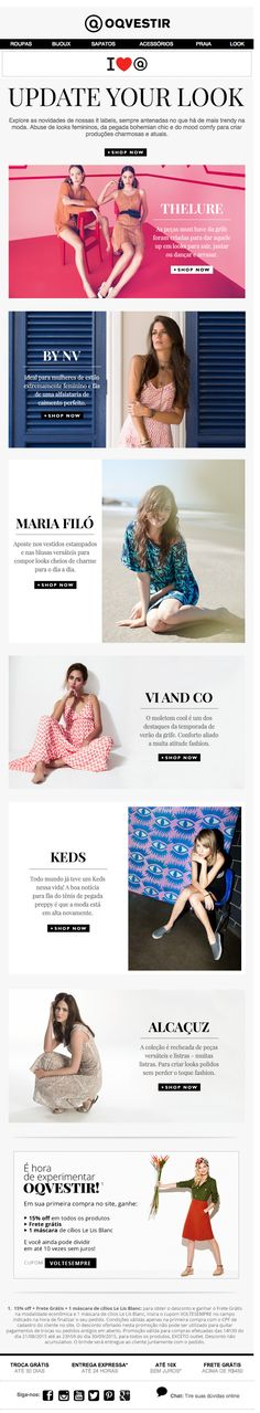 | newsletter | fashion email | fashion design | email | email marketing | email inspiration | e-mail