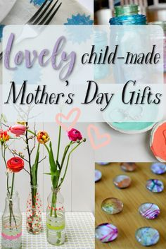 Lovely child-made Mother's Day gifts! These DIY homemade gifts are perfect for kids to make for mom. Simple and easy ideas that will make mom feel special and loved. Easy Mother's Day Crafts, Mothers Day Crafts For Kids, Crafts For Kids To Make, Gifts For Kids, Mom Gifts, Parent Gifts, Kids Crafts, Homemade Gifts For Mom, Mother's Day Activities