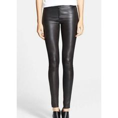 Leather Rider Ladies Black Nappa Leather Female Clothing Trousers
