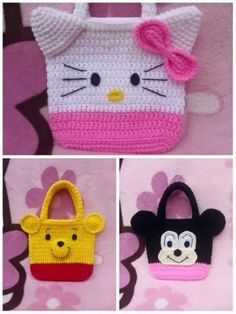 Image gallery – Page 450008187763789898 – Artofit Crochet Crafts, Crochet Toys, Crochet Projects, Free Crochet, Crochet Wallet, Crochet Backpack, Crochet Handbags, Crochet Purses, Minnie Mouse Purse