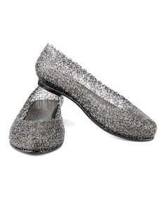 Take a look at this Black Glitter Flat on zulily today!