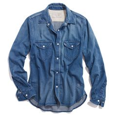 chimala® denim vintage officer shirt