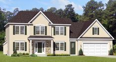 Elevation of Traditional   House Plan 54061