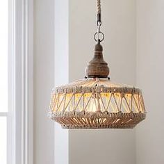 Shop natural rope pendant from Pottery Barn Teen. Our teen furniture, decor and accessories collections feature fun and stylish natural rope pendant. Boho Lighting, Light, Lighting, Farmhouse Style Lighting, Light Fixtures, Rope Chandelier, Farmhouse Dining Room Lighting, Bedroom Ceiling Light, Ceiling Lights