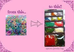 Uptown jewelry bag for organization of your loom bands, c clips, and hooks!