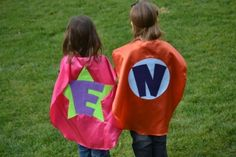 Items similar to 2 Superhero Cape Costume Kid Capes Personalized You Pick Colors Logo letter superhero favor on Etsy Superhero Capes For Kids, Superhero Favors, Superhero Costumes Kids, Kids Capes, Superhero Superhero, Custom Capes, Hero Movie, Famous Movies, Super Hero Costumes