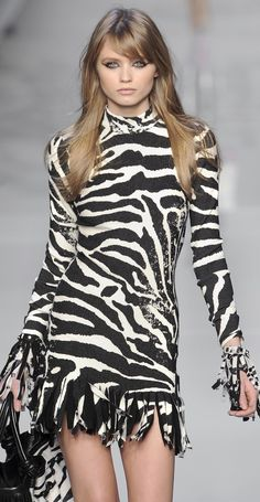 Zebra dress,Blumarine