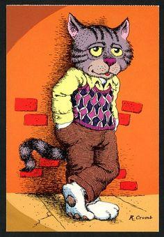 Fritz the Cat - Robert Crumb. Robert Crumb, Fritz The Cat, Linear Art, Alternative Comics, Graphisches Design, Bd Comics, Chef D Oeuvre, Art Challenge, Concert Posters