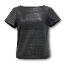 Jasi  Co JSDJ2311 PU Perforated Faux leather Top Round Scoop Neck Short Sleeves Boob Tube Included UK US European Size(China (Mainland)) visit http://www.jasiandco.com/