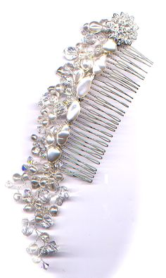 I love making wedding jewellery - come on one of my workshops! - here's a hair vine/comb for the happy occasion!  www.wirejewellery.co.uk