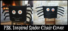 Make your own version of an adorable spider chair cover by using Oly*Fun Fabric!