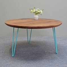 481 Round Hairpin Coffee Table by MartinGallagher on Etsy https://www.etsy.com/uk/listing/457356486/round-hairpin-coffee-table