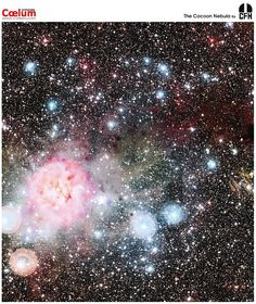 The Cocoon Nebula, cataloged as IC 5146, is a strikingly beautiful nebula located about 4,000 light years away toward the constellation of the Swan (Cygnus). Inside the Cocoon Nebula is a newly developing open cluster of stars. Like other stellar nurseries, the Cocoon Nebula holds, at the same time, a bright red emission nebula, blue reflection nebulas, and dark absorption nebulas.