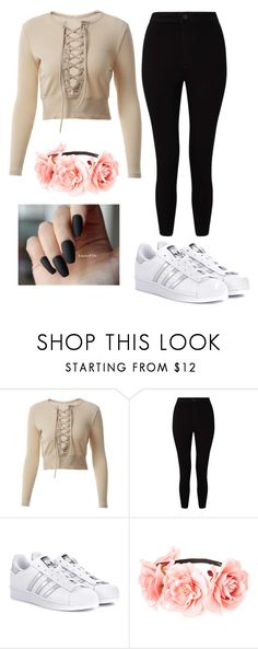 """Untitled #26"" by filipicamala on Polyvore featuring Miss Selfridge and adidas Originals"