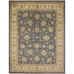 Kafkaz Sitora Grey Hand-Knotted Rug (8'1 x 9'11) - Free Shipping Today - Overstock.com - 18666633