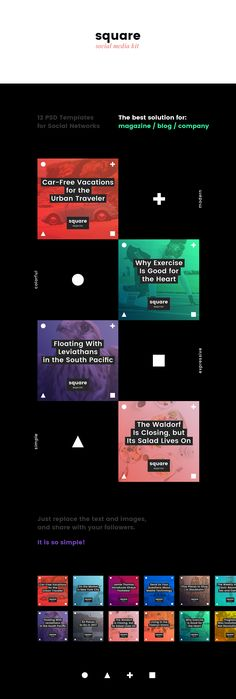 Square Social Media Kit on Behance